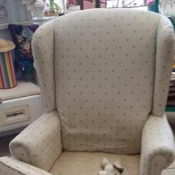 Before Photo Of Upholstered Chair